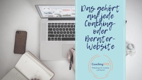 Coaching- oder Berater-Website